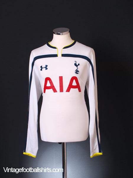 2014-15 Tottenham Home Shirt L/S L