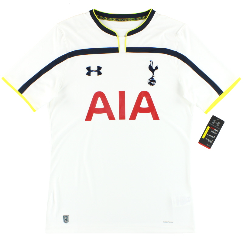 2014-15 Tottenham Under Armour Fitted Home Shirt *w/tags* L - 377061-01