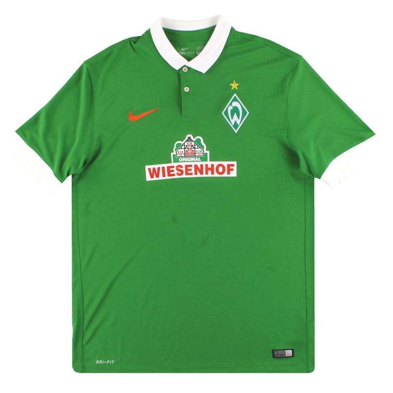 2014-15 Werder Bremen Nike Home Shirt L - 619131-330