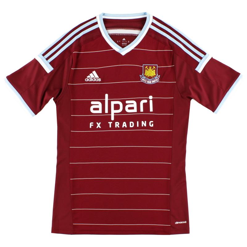 2014-15 West Ham adidas Home Shirt *Mint* S - M61302