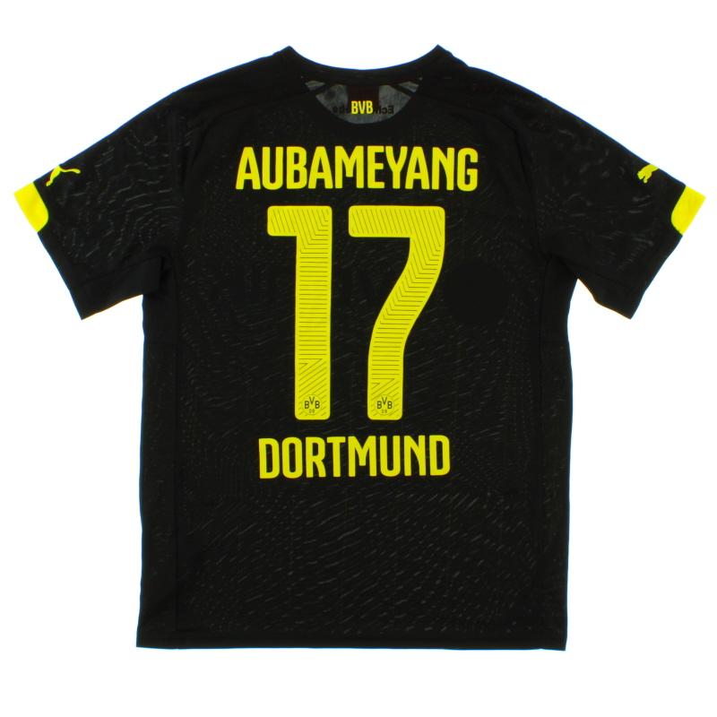 2014-16 Borussia Dortmund Away Shirt Aubameyang #17 *Mint* M - 745883
