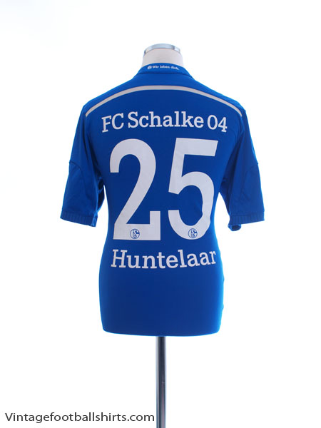 2014-16 Schalke Home Shirt Huntelaar #25 *Mint* M - D88444