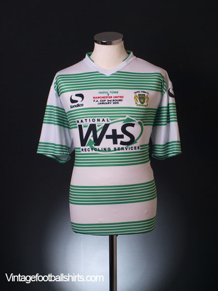 2015 Yeovil Town 'F.A. Cup vs Manchester United' Home Shirt *BNWT* XL