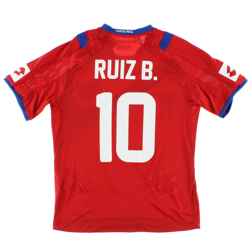 2014 Costa Rica Home Shirt Ruiz B. #10 *w/tags* S - 371010-08