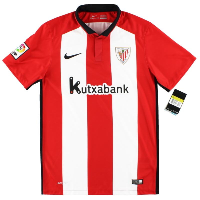 Beber agua En expansión choque  2015-16 Athletic Bilbao Nike Home Shirt *w/tags* S for sale 686314-658