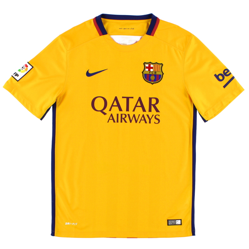 2015-16 Barcelona Away Shirt *Mint* S