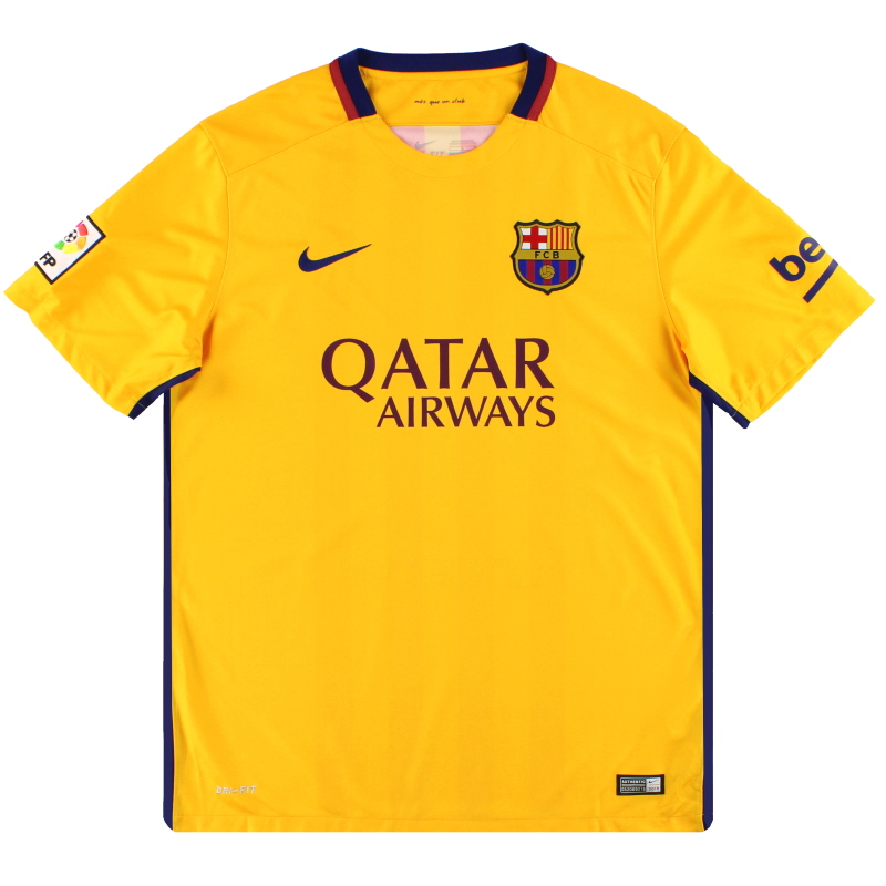 2015-16 Barcelona Nike Away Shirt *Mint* L - 658785-740