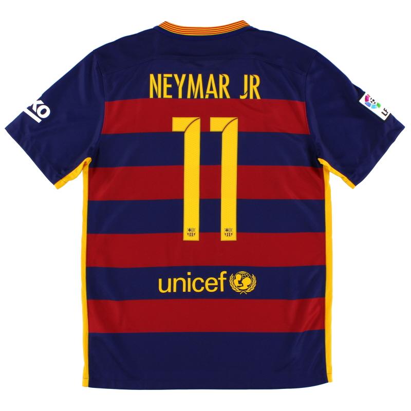 2015-16 Barcelona Home Shirt Neymar Jr #11 *Mint* M - 658794-422