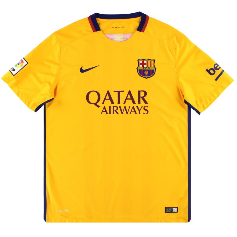 2015-16 Barcelona Nike Away Shirt *Mint* XL - 658785-740