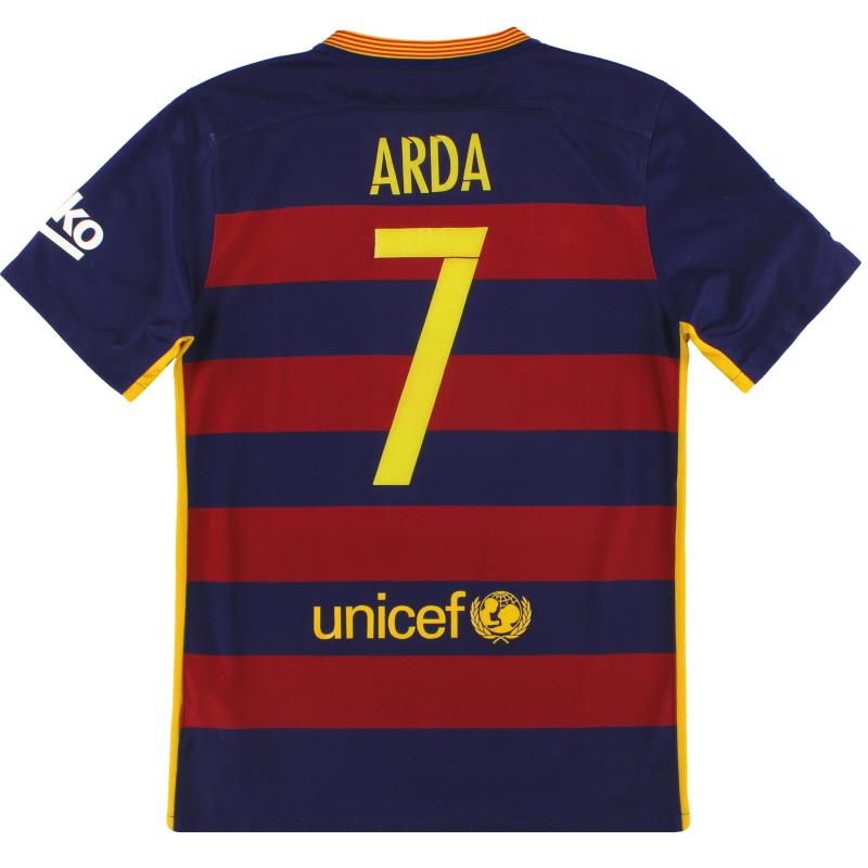 2015-16 Barcelona Nike Home Shirt Arda #7 S - 658794-422
