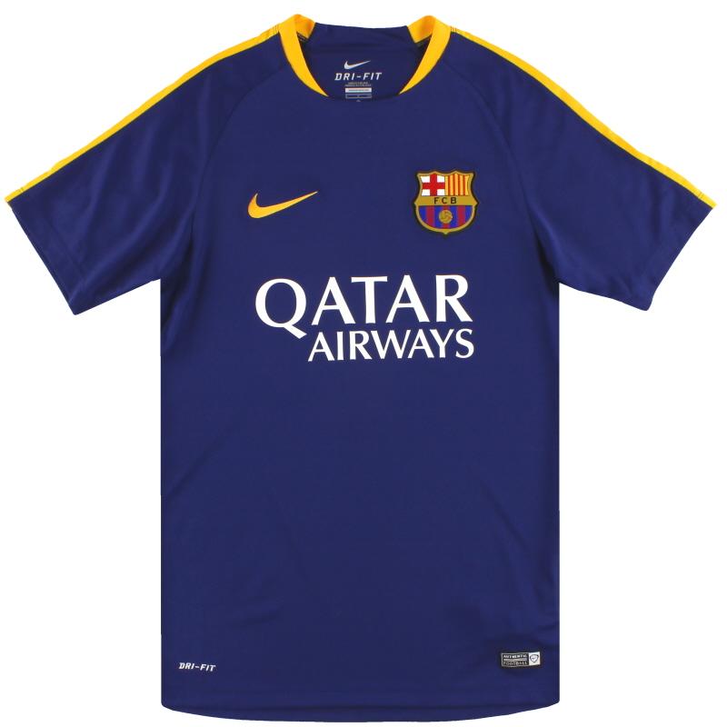 2015-16 Barcelona Nike Training Shirt *Mint* S - 686600-424