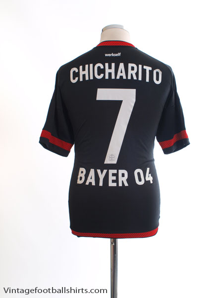 2015-16 Bayer Leverkusen Home Shirt Chicharito #7 M
