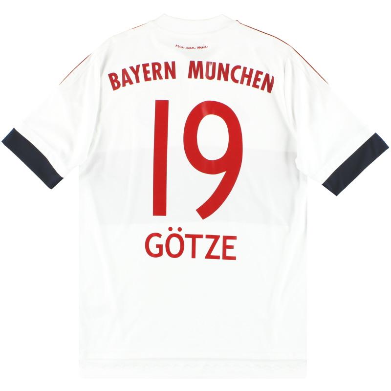 2015-16 Bayern Munich adidas Away Shirt Gotze #19 Y