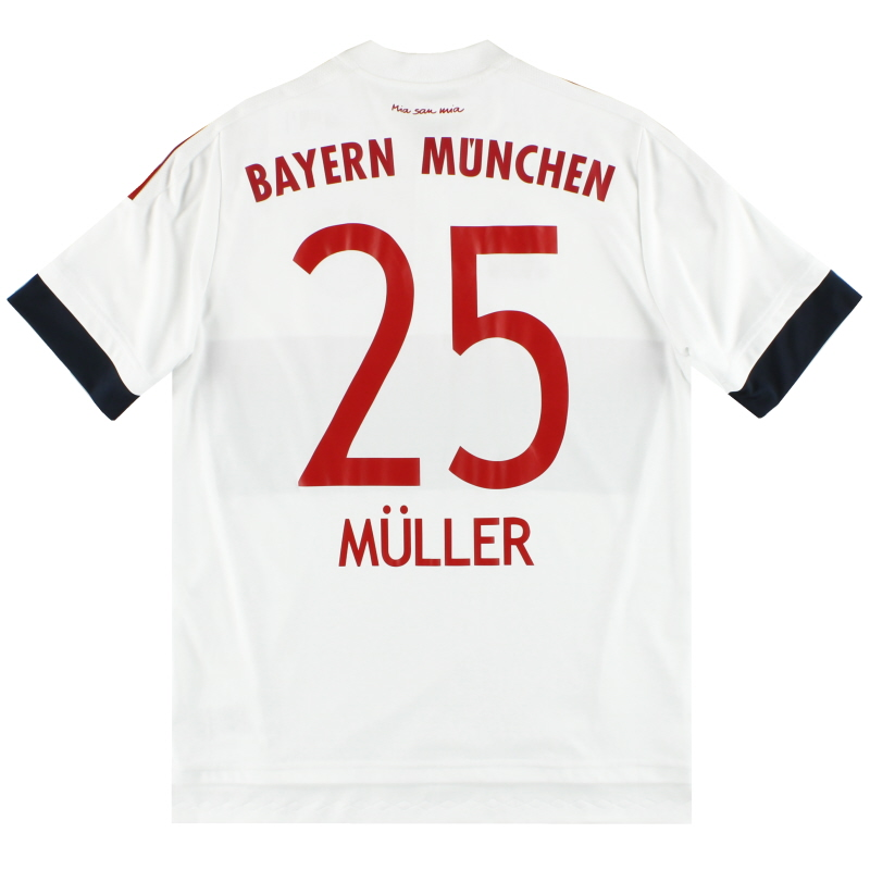 2015-16 Bayern Munich adidas Away Shirt Muller #25 Y