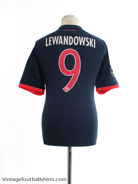 2015-16 Bayern Munich CL Third Shirt Lewandowski #9 L - AA5222