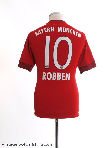 2015-16 Bayern Munich Home Shirt Robben #10 M - S14294