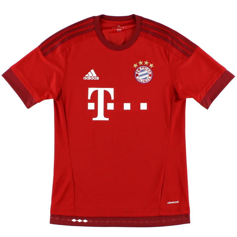 2015-16 Bayern Munich adidas Home Shirt *Mint* Y