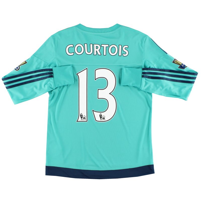 2015-16 Chelsea Goalkeeper Shirt Courtois #13 *Mint* Y - S11666