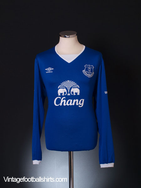 2015-16 Everton Home Shirt *Mint* L/S XL
