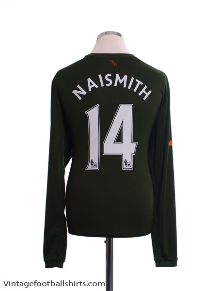 2015-16 Everton Third Shirt Naismith #14 L/S *Mint* XL