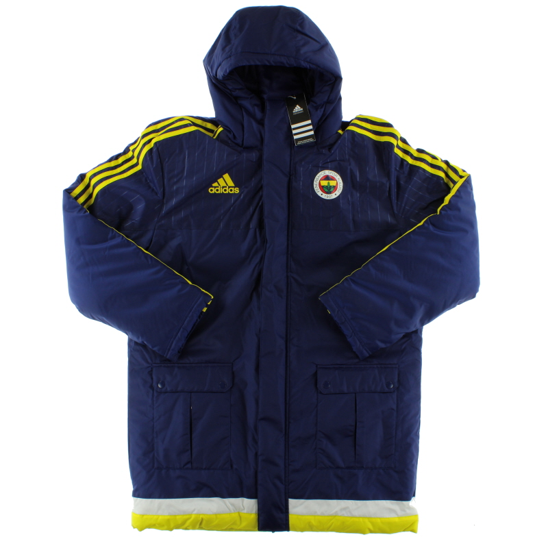 2015-16 Fenerbahce Player Issue adidas Padded Bench Coat *BNIB* - S88384