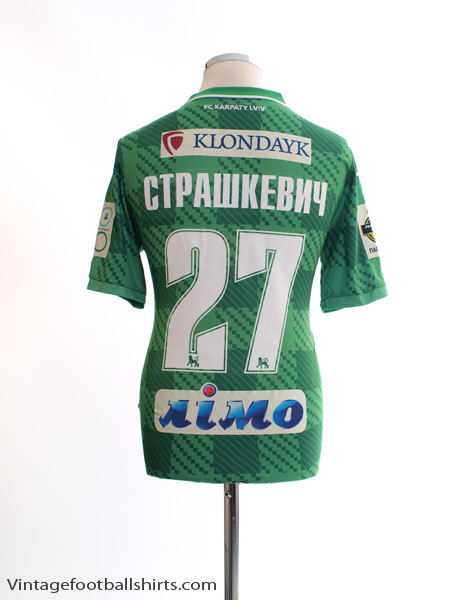 2015-16 Karpaty Lviv Match Issue Away Shirt Страшкевич #27 S