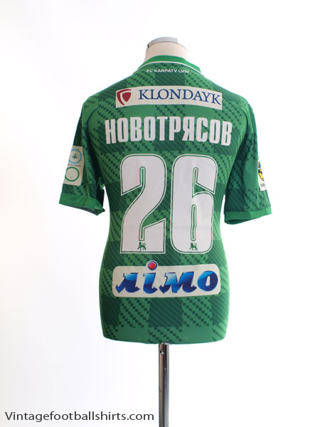 2015-16 Karpaty Lviv Match Issue Away Shirt Новотрясов #26 M