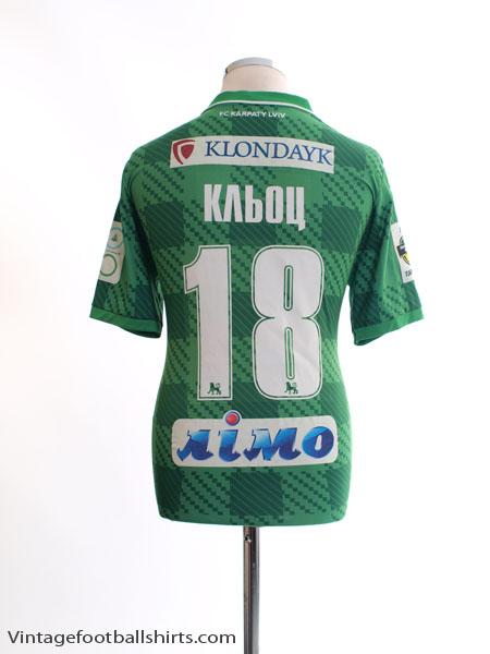 2015-16 Karpaty Lviv Match Issue Away Shirt Кльоц #18 M