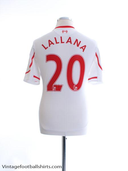 2015-16 Liverpool Away Shirt Lallana #20 M