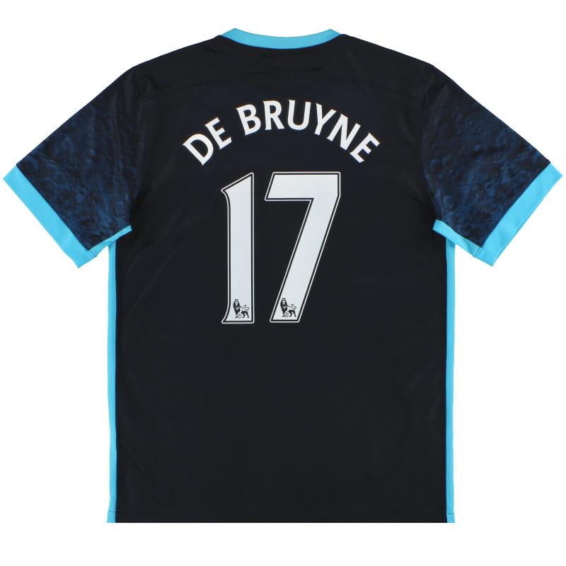 2015-16 Manchester City Nike Away Shirt De Bruyne #17 M - 658881-476