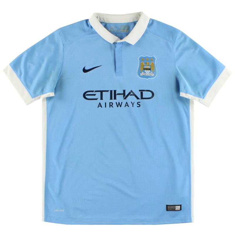 2015-16 Manchester City Nike Home Shirt XL.Boys - 659081-489