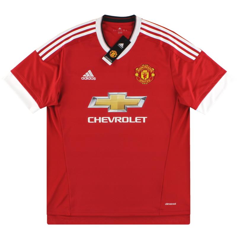 2015-16 Manchester United adidas Home Shirt *BNIB* XL.Boys - AC1414