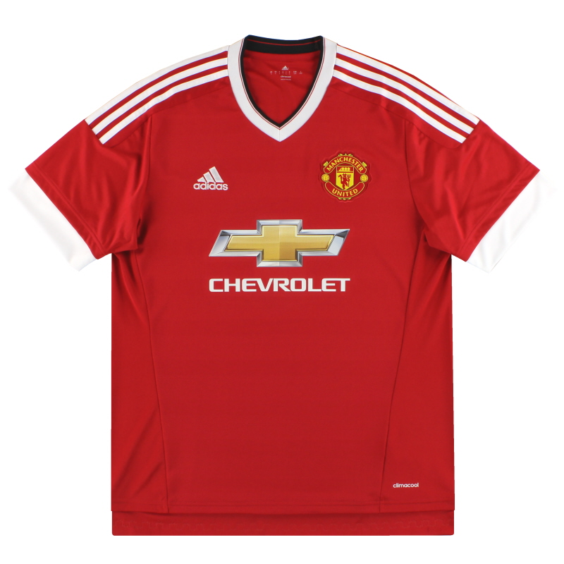 2015-16 Manchester United adidas Home Shirt Y - AC1418