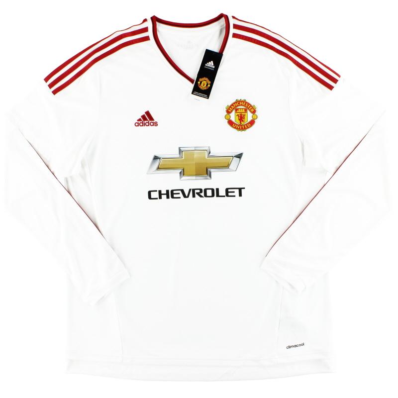 2015-16 Manchester United adidas Away Shirt L/S *w/tags* XL - AI6362