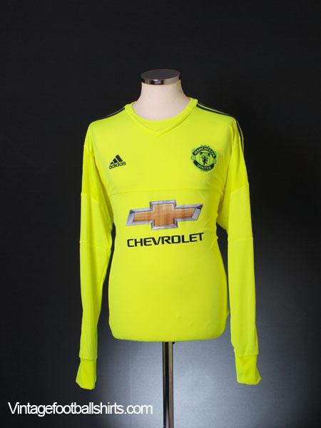 2015-16 Manchester United Goalkeeper Shirt L/S *As New* XL