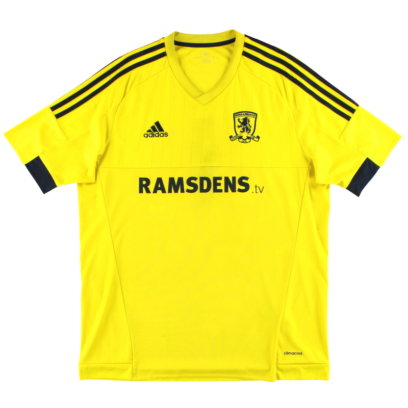 2015-16 Middlesbrough adidas Away Shirt L - AA3540