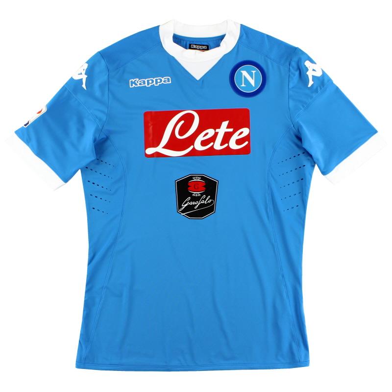 2015-16 Napoli Kombat Home Shirt *Mint* XXL - 302GG40