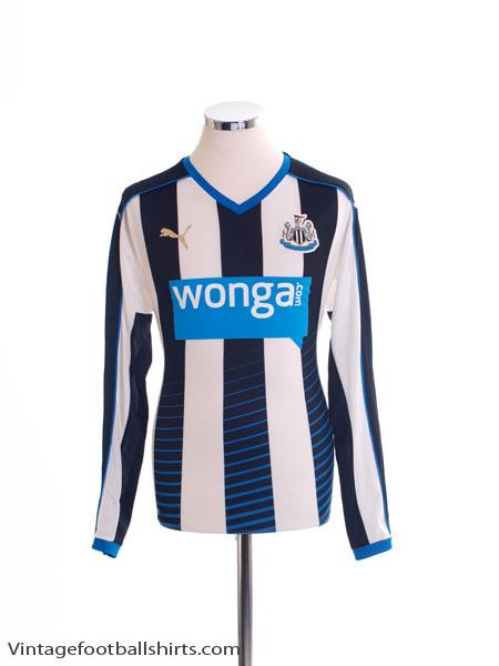 2015-16 Newcastle Home Shirt L/S S