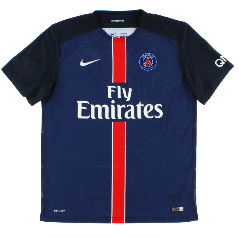 2015-16 Paris Saint-Germain Home Shirt *Mint* L - 658907-411
