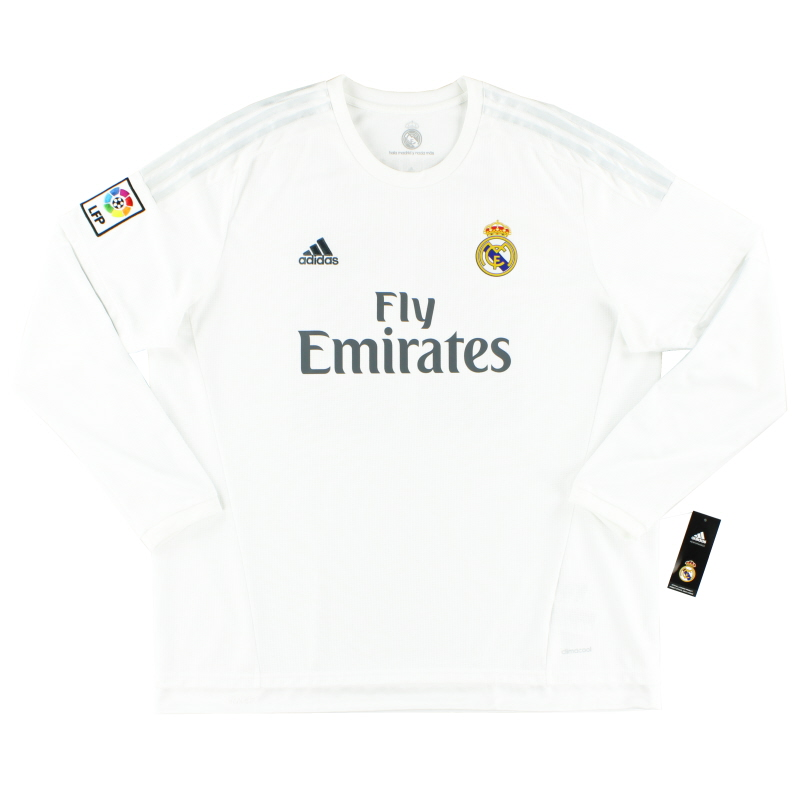 2015-16 Real Madrid Home Shirt L/S *BNIB* - AK2495