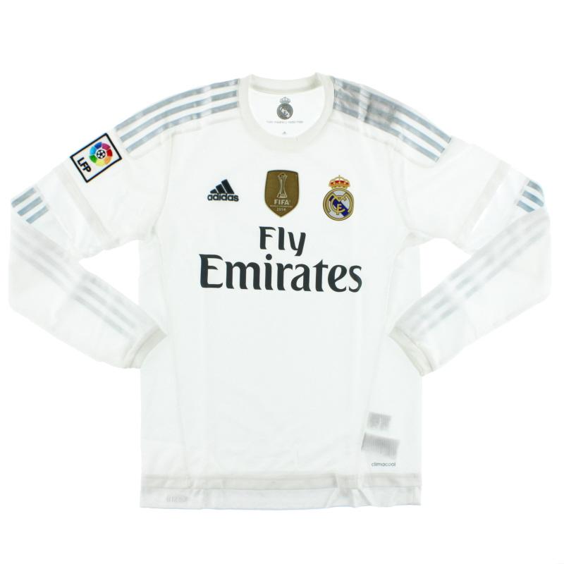 2015-16 Real Madrid Home Shirt L/S *BNIB* - AK2495