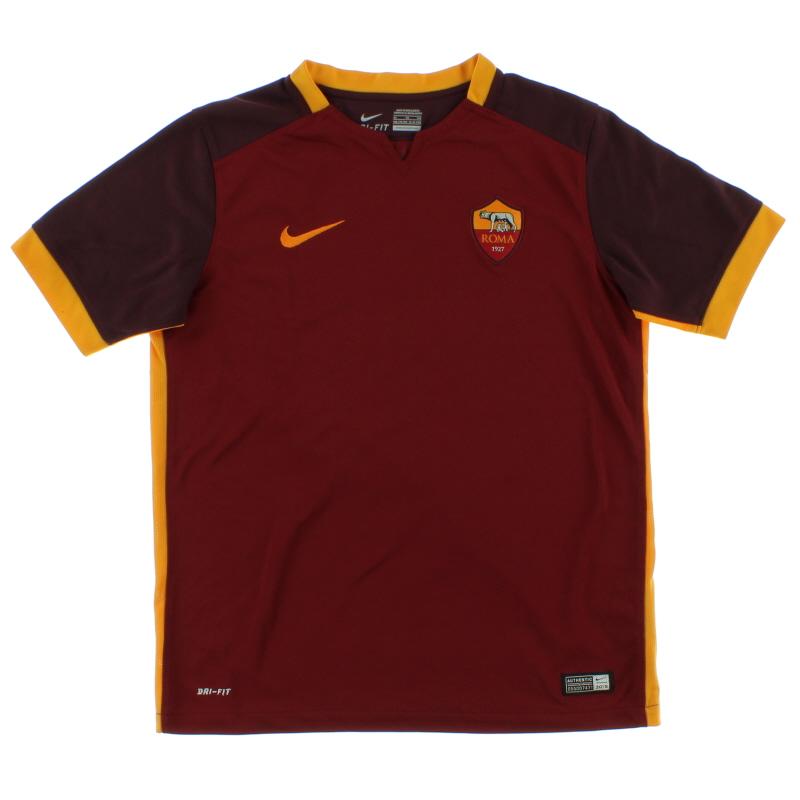 2015-16 Roma Home Shirt *Mint* L - 658924-678
