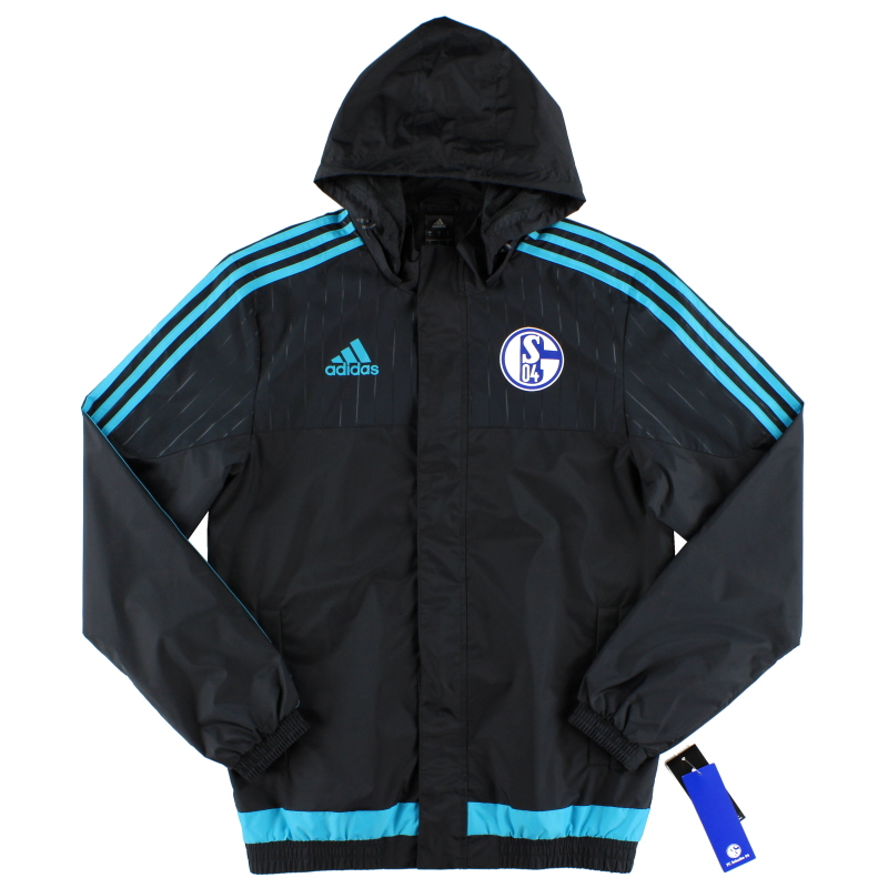 2015-16 Schalke adidas Player Issue Rain Jacket *BNIB* - AB2043
