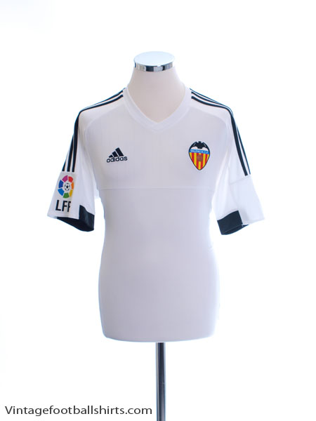 2015-16 Valencia Home Shirt *Mint* M - AB2290