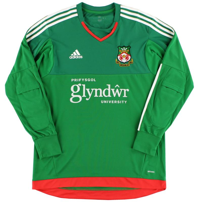 2015-16 Wrexham Player Issue Adizero Goalkeeper Shirt L - S29440