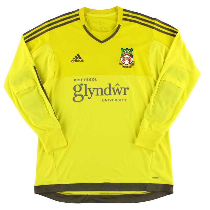 2015-16 Wrexham Player Issue Adizero Goalkeeper Shirt XL - S29442