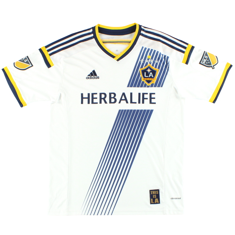 2015 LA Galaxy adidas Home Shirt L - G87445