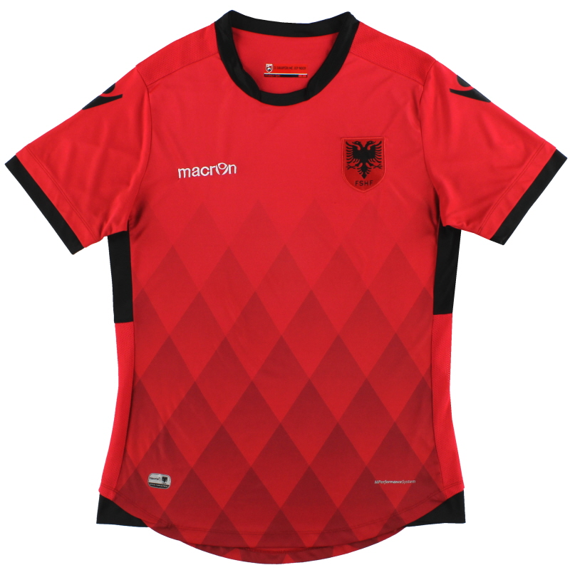 2016-17 Albania Macron Home Shirt S