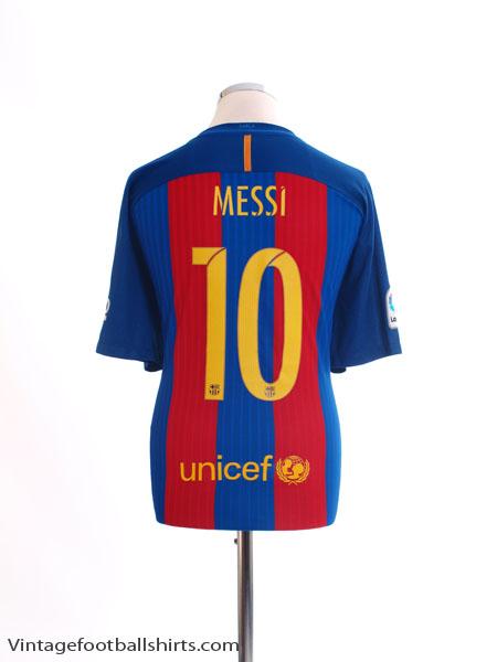 2016-17 Barcelona Home Shirt Messi #10 *As New* XL