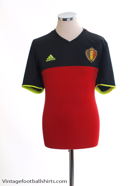 2016-17 Belgium Home Shirt *Mint* L - AA8744